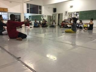 Workshop on gestures and meaning by Preethi Athreya, JOMBA! Durban, August 2016. Image: Vikram Iyengar