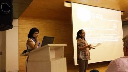 Dana and Indu making the Ranan presentation at SMART, Mumbai 2015
