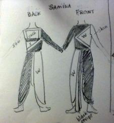 Katy Lai Roy's costume sketches